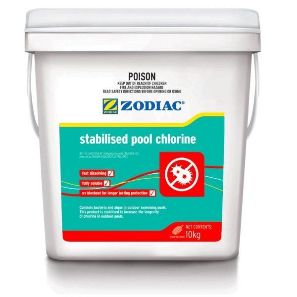 zodiac stabilised pool chlorine 10kg