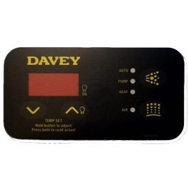 davey spaquip sp400 sp500 sp600 sp601 touchpad overlay