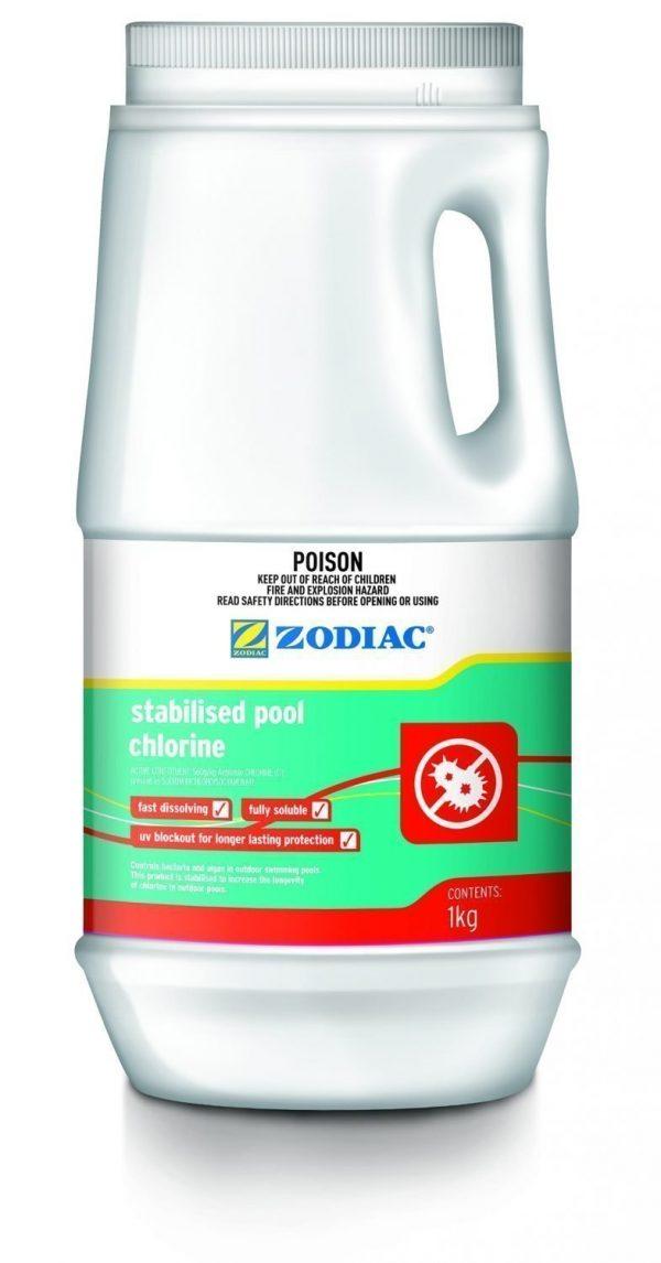 zodiac 1kg stabilised swimming pool chlorine